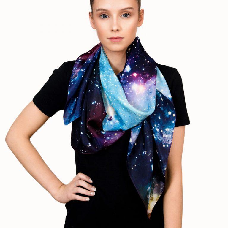 Starry Universe silk scarf