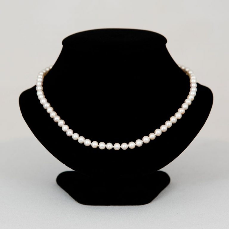 The Classic 18 Smaller Pearl Necklace
