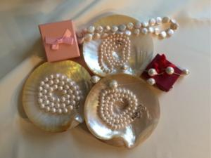 Pearls and gift boxes