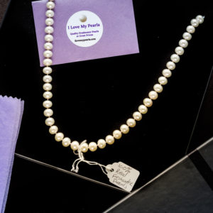 Pearl necklace in a box